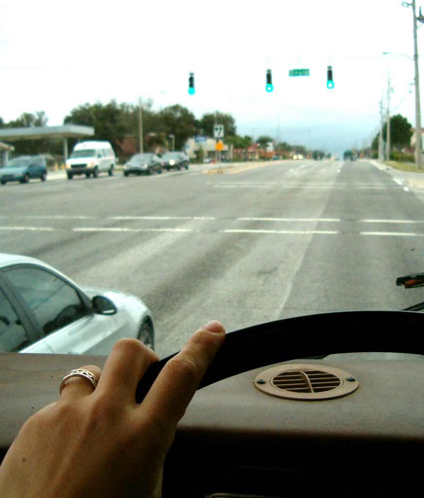 windshield view